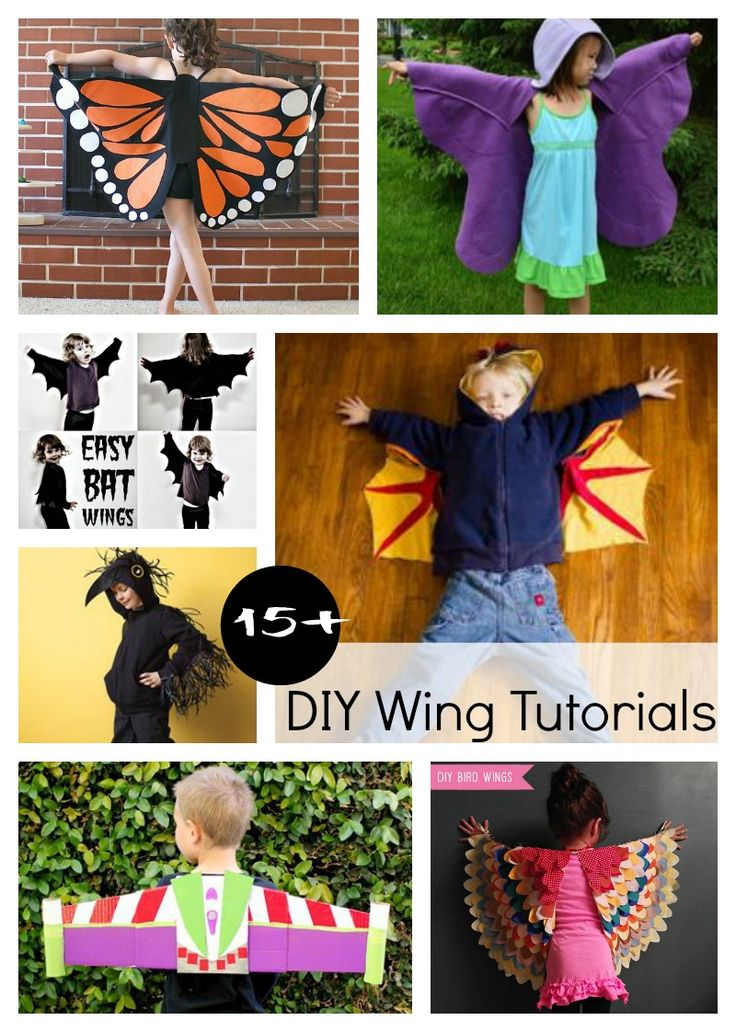 Round up of 15+ DIY Wing Tutorials and Costumes