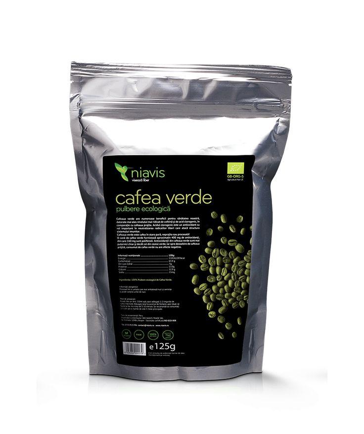 Cafea Verde Pulbere Ecologică 125 g Niavis