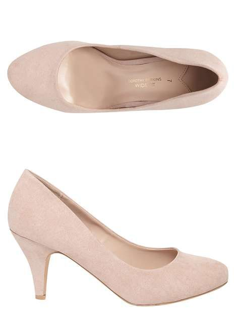Pale pink court shoes | Pink court