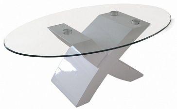 Журнальный столик Ножки,основание - МДФ, многослойное покрытие глянцевым лаком, столешница - закаленное стекло