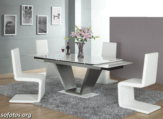 Amazing White Modern Dining Table Sets Makes Residence Terrific Part 29