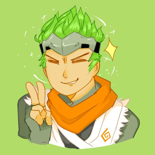 """artchanidsgrip: """" i didnt want to do my math homework so i drew young genji…"""
