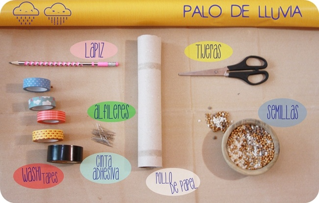 #alacazadelreforzador Manualidades infantiles palo de lluvia DIY