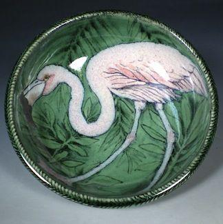 Flamingo Bowl by Nan Hamilton