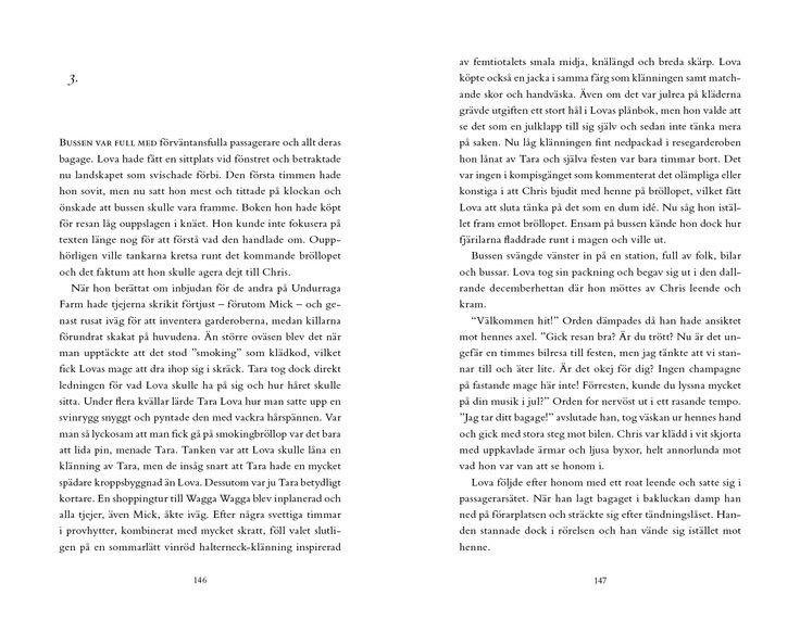 "Sample ""Lova"". © Eva Ludvigsen, Frank publishing 2013. Typesetting and Page Layout: Sebastian Leon Hermfelt."