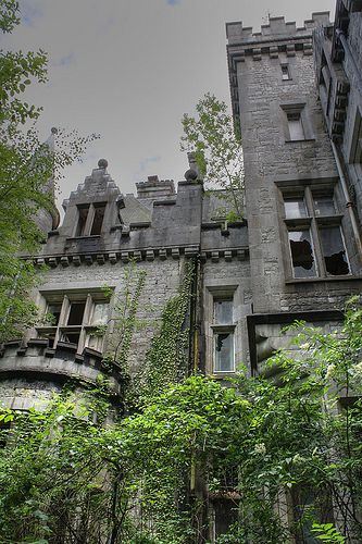 an abandoned castle in Belgium