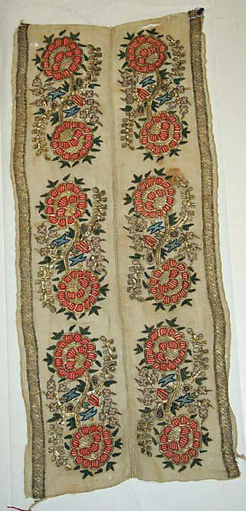 Textile  Date:     19th century Culture:     Turkish Medium:     silk