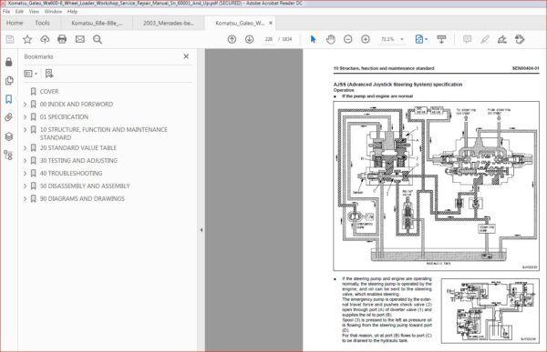 Komatsu Galeo Wa600 6 Wheel Loader Workshop Service Repair Manual Sn 60001 And Up Repair Manuals Komatsu Repair