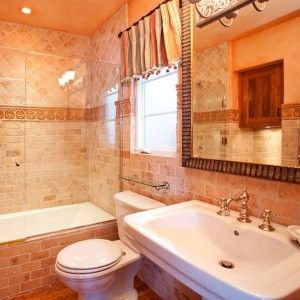 Energizing Orange - Beautiful Bathroom Color Schemes