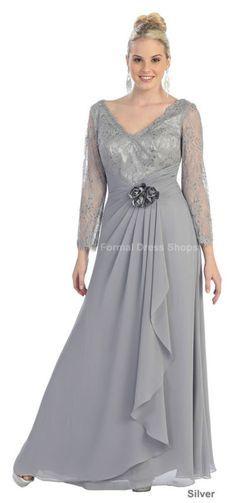 PLUS tamanho mãe do noiva noivo vestido FORMAL longo manga moda da vestido de noite