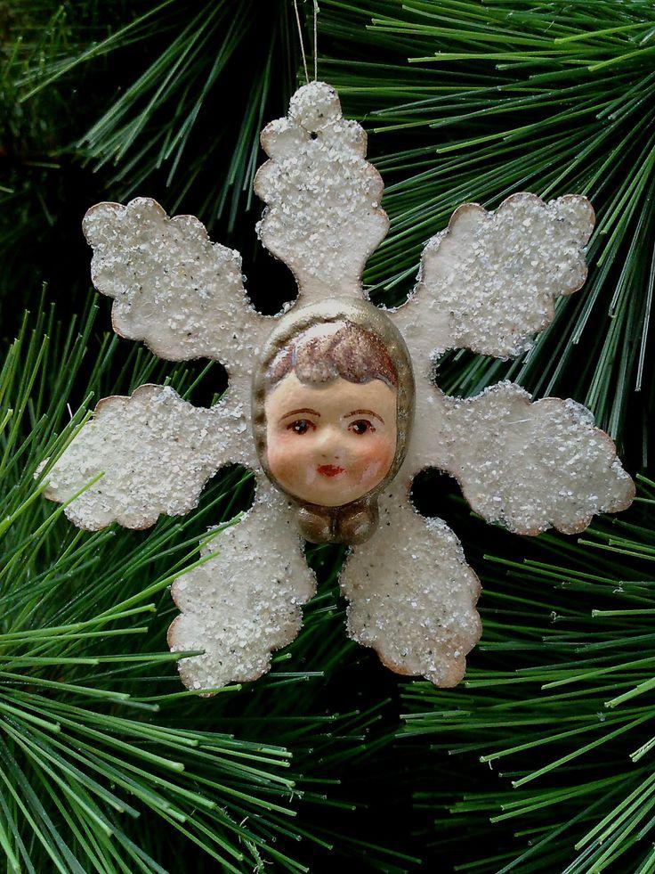 Мой Сказочный Мир: Старинные снежинки-девочки (реплика)