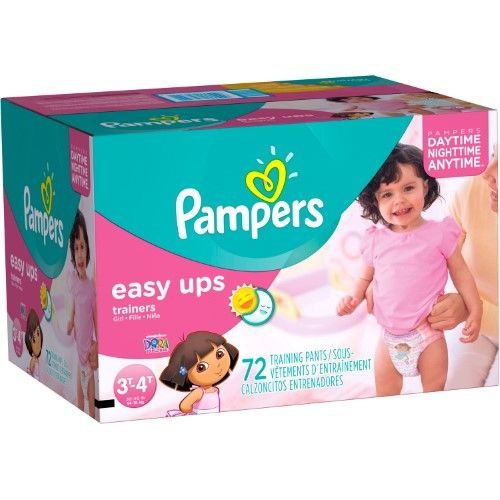 Pampers Easy Ups Training Pants For Girls, Super Pack