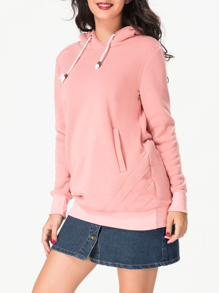 Pockets Drawsting Plain Hoodie Only $13.95 USD More info...