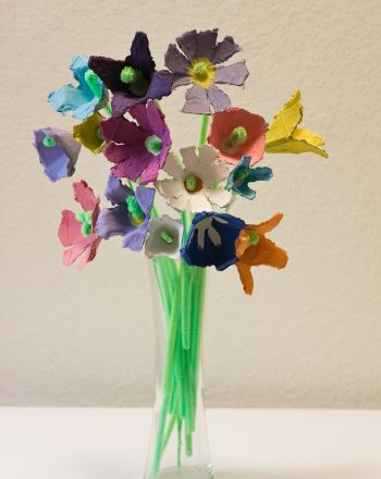 Activities: Egg Carton Flowers