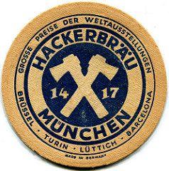 Munich Hackerbrau Roger4336 Tags Beer Germany Munich Munchen Bayern Deutschland Bavaria Beermat Bier Coaster Bierdeckel Hackerbra Bierdeckel Bier Brauerei