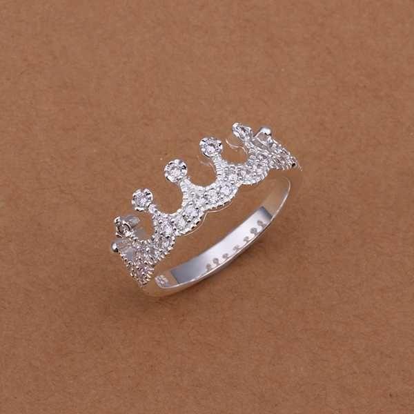 Venta caliente! Venta al por mayor de ley 925 anillo de plata, 925 de moda de plata anillo de la joyería, multi- con incrustaciones de piedra de la corona smtr254 anillos