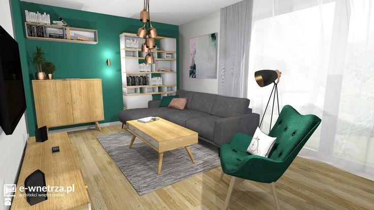 Salon styl Nowoczesny - zdjęcie od e-wnetrza.pl - Salon - Styl Nowoczesny - e-wnetrza.pl