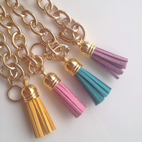 Golden Yellow Tassel Bracelet - Jcrew Inspired. $12.00, via Etsy.