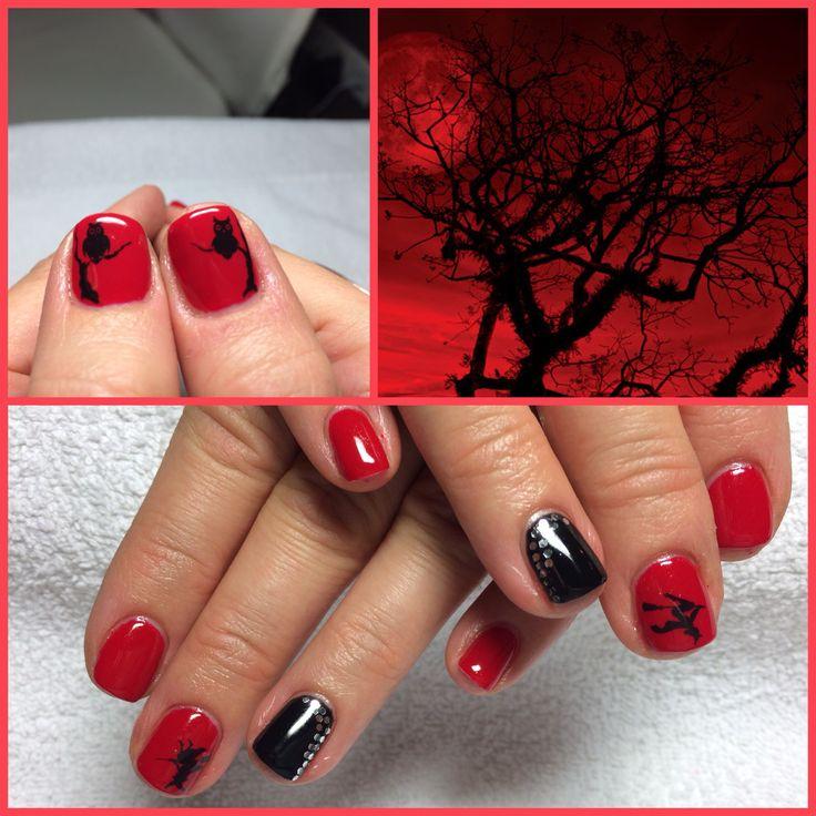 Helloween.. Shellac. Red & black