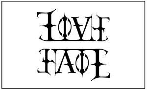 Ambigram Love/Hate