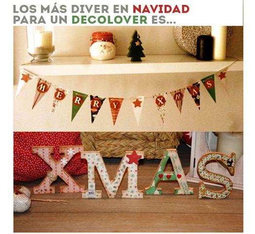 decorar la casa en navidad es lo ms divertido habis visto las letras y