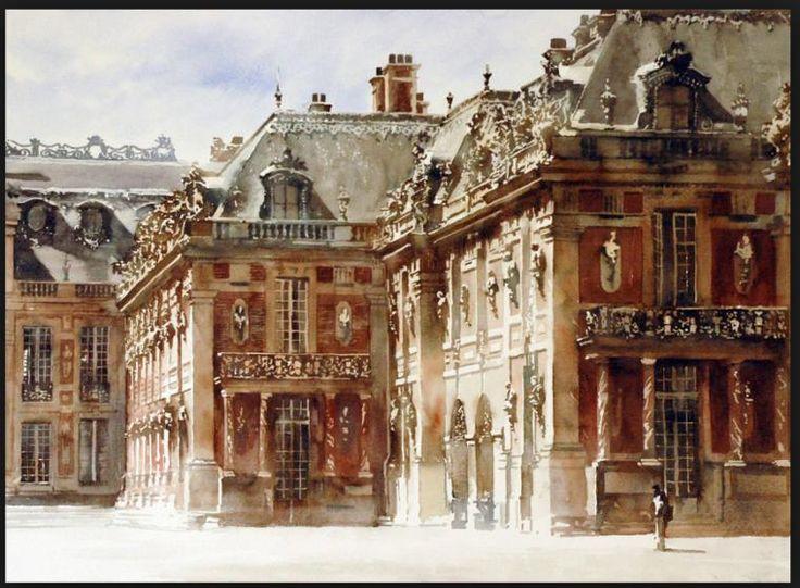 Шикарный акварелист нашего времени Paul Dmoch, рисующий много архитектуры и света. Один француский «знаток» посетовал, что такой художник не есть хорошо, он лишает живопись естественности, слишком натуралистично и тому подобное. Смешно, когда дилетанты, не смыслящие в живописи, высказываются подобным образом. Посмотрите сами, его акварели не спутаешь ни с кем.