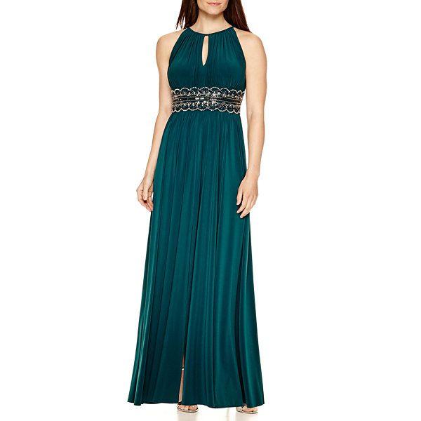 R Amp M Richards Sleeveless Embellished Waist Dress Jcpenney