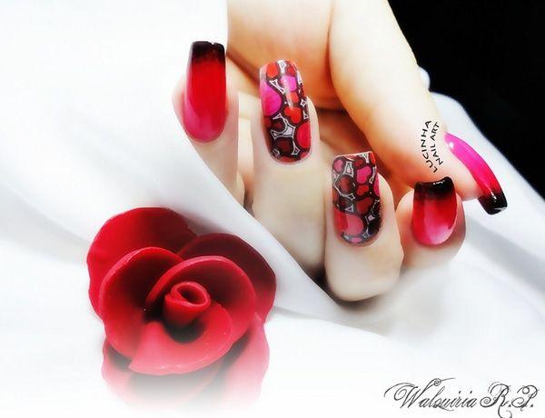 unhas vermelhas sexy - 35 desenhos de unhas originais <3!