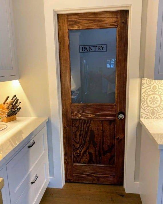 Antique Pantry Door Barn Pantry Door Barn Door Glass Pantry Etsy In 2020 Pantry Door Glass Pantry Door Vintage Pantry