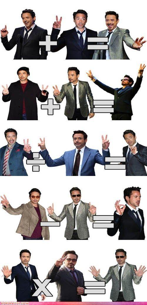 Robert Downey Jr Math