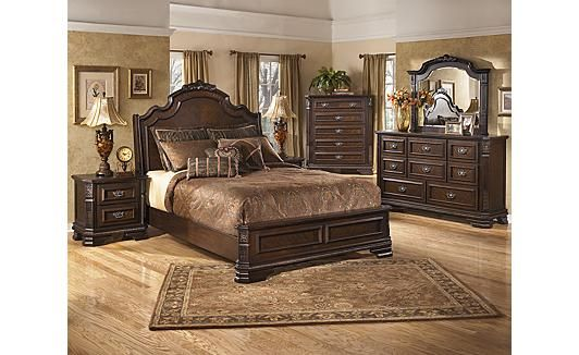 ashley bedroom furniture sleigh sets hardinsburg clearance bedrooms decor beds king bed footboard queen shore north modern carved low macys
