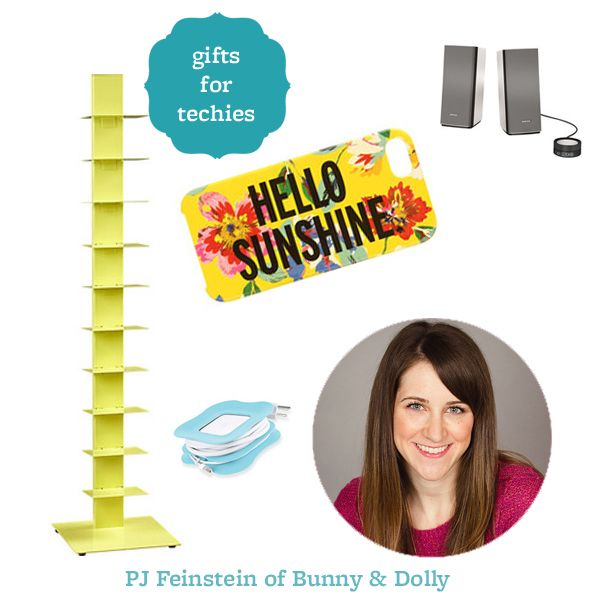 PJ from @PJ | Bunny & Dolly shares her favorite gadgets to get for the techie in your life! Find the gift guide here: http://www.bhg.com/shop/shopping-guide/editors-favorite/gifts-for-techies.html
