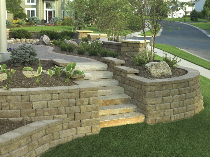 Landscaping Retaining Wall Blocks Menards : Walls landscaping retaining and wall