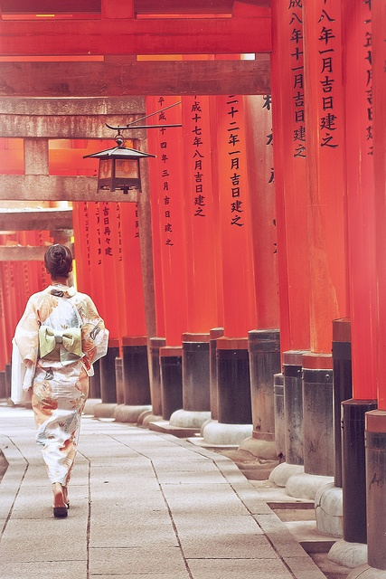Kyoto, Japan and of course the fashions.  Kimonos are so elegant.