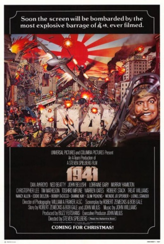 1941, starring John Belushi, Dan Aykroyd, Ned Beatty, Lorraine Gary, Cristopher Lee, Toshiro Mifune, Warren Oates, Robert Stack, Treat Williams, Eddie Deezen, Slim Pickens... you get the idea. Directed by Steven Spielberg. ($19.99)