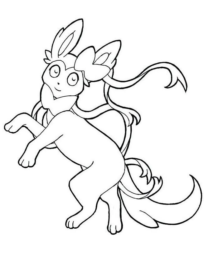 Kawaii Sylveon Coloring Pages Printable In 2020 Pokemon Coloring Pages Fairy Type Pokemon Horse Coloring Pages