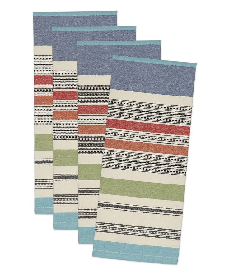 Look what I found on #zulily! Mediterranean Stripe Dish Towel - Set of Four by Design Imports #zulilyfinds
