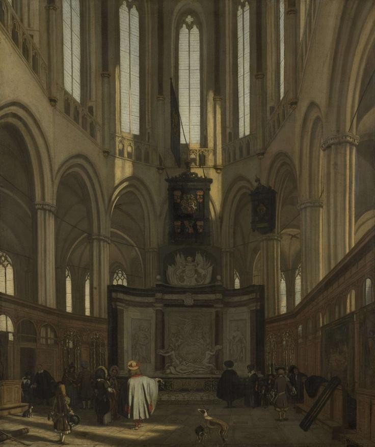 Emanuel de Witte, Het koor van de Nieuwe Kerk te Amsterdam met het praalgraf van Michiel de Ruyter (1683, Rijksmuseum, Amsterdam)