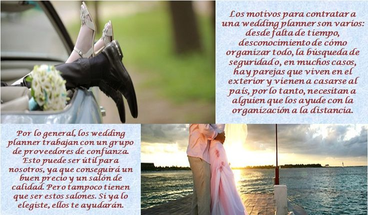 Que motivos te debe dar buscar una Wedding Planner para tu boda?? ....