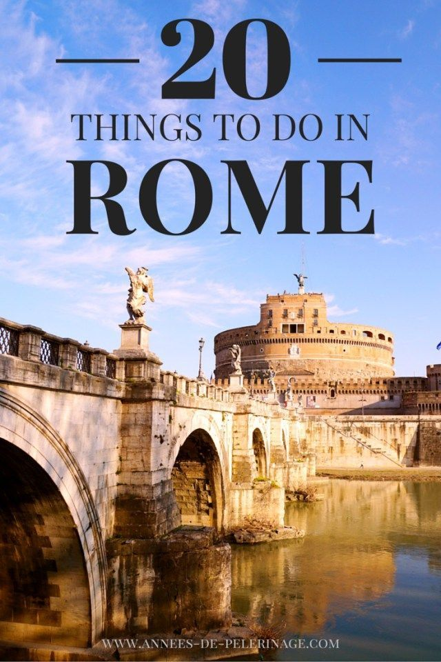 A list of 20 amazing things to do and see in Rome. Plan your perfect itinerary for Italy's capital. If you plan to travel to Rome, click for more info!