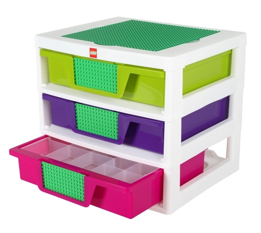 Lego Friends 3 Drawer Sorting System With Baseplates