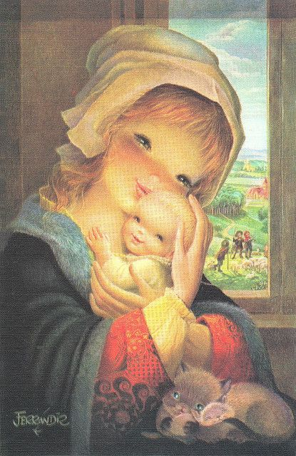 """Pastoral Mother and Child"" By Juan Ferrándiz"