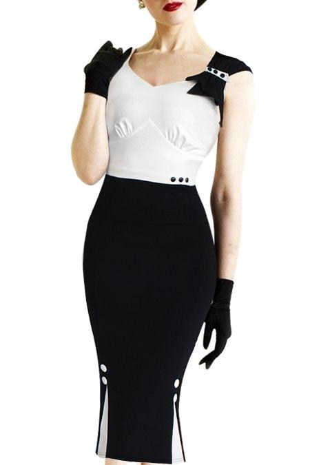 Color Block Bodycon Prom Dress