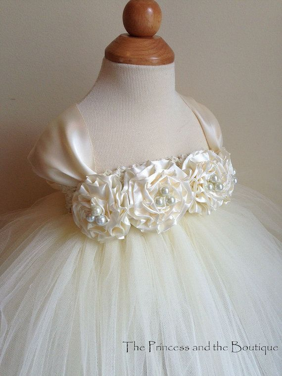 Flower girl dress Ivory tutu dress, cap sleeves  chiffton roses, baby tutu dress, toddler tutu dress,newborn-24, 2t,2t,4t,5t, birthday