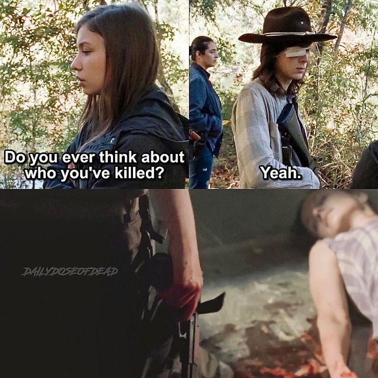 Enid (Katelyn Nacon) talking to Carl Grimes (Chandler Riggs) | The Walking Dead - Season  7 Episode 15 'Something They Need'