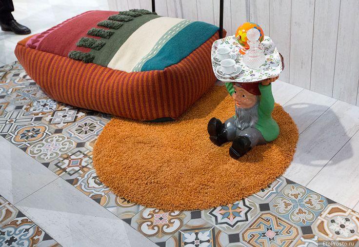 Разноцветные пэчворки из плитки. Новые тенденции. Часть 3