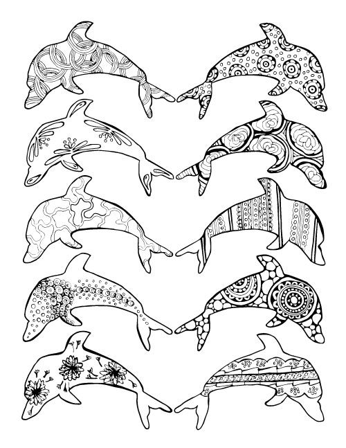 936 best Adult ColouringUnder the Sea FishMermaidsShells