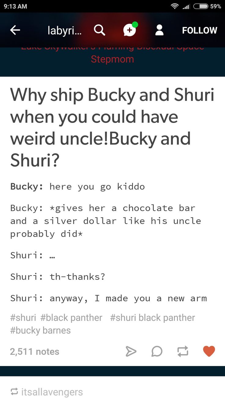 Ew guys don't ship shuri with adults she's 16!! Instead, imagine Bucky as an amazing awkward old uncle