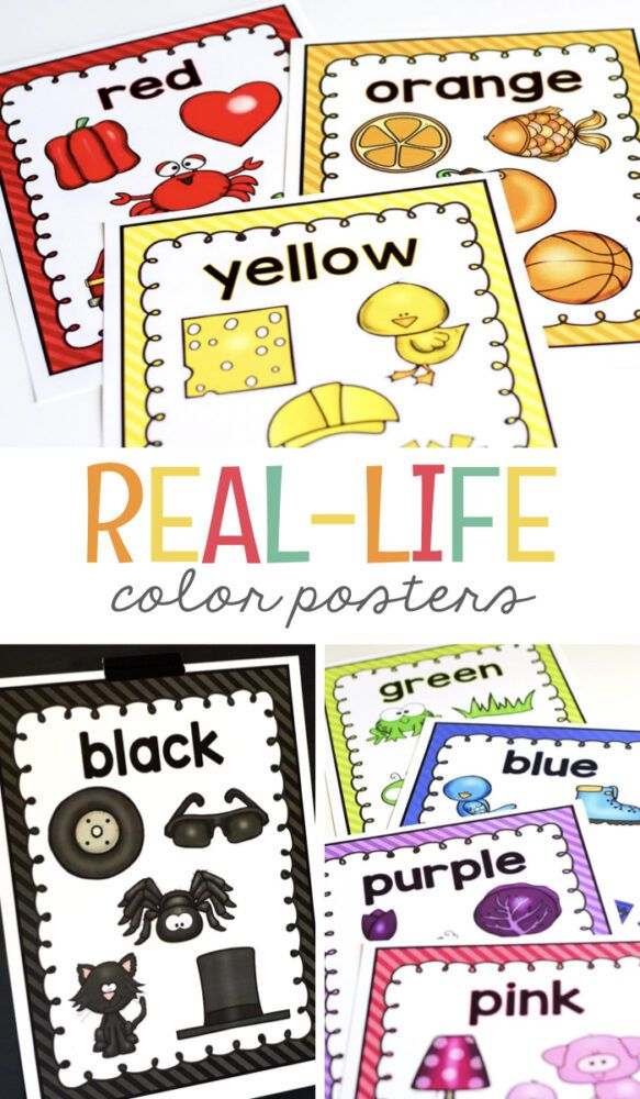 Real Life Color Posters Free Classroom Printables Preschool Colors Teaching Colors