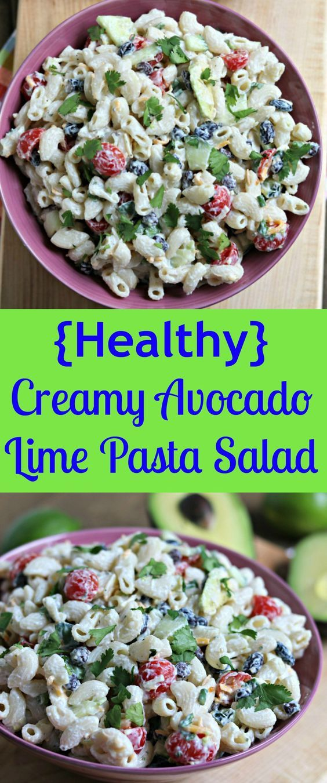 avocado lime pasta salad southwest